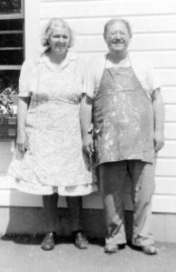 Bertha (Fischer) and George Habicht, circa 1946