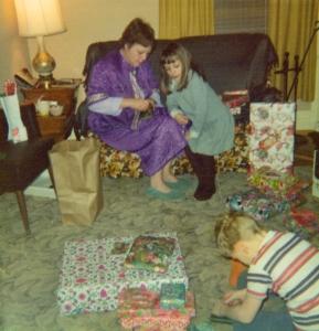 Judy and Karen (John in front), 1974