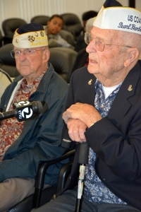 Mr. George Larsen (USCG), Radio Station Diamond Head (foreground) and Mr. Francis Jenkins (USN), USS Bagley