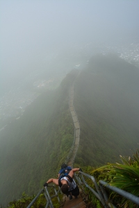 Literally in the clouds near the summit of the Stairway to Heaven