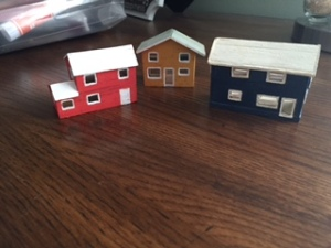 Miniature houses build by Ramond Hinton, my grandfather (circa 1980)