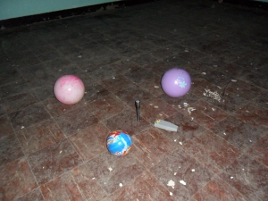 The toys Lily played with during my visits to the Lunatic Asylum (July 2010)