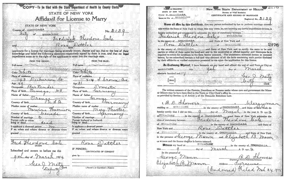 Descendant of James Cole, Plymouth (3/4)