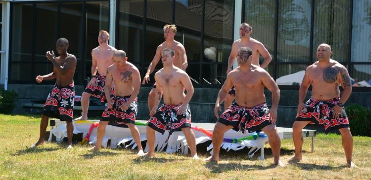 Coast Guard folks make good polynesian dancers regardless of heritage.
