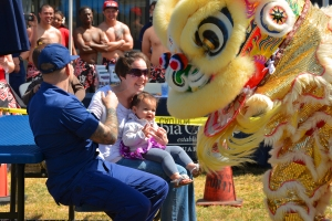 The Chinese Lion Dancers can be a little scary...