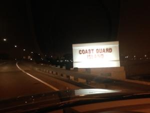 The causeway to Coast Guard Island in Alameda.