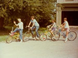 Me, Steve, my sister Karen, and Judy, Steve's sister in 1978