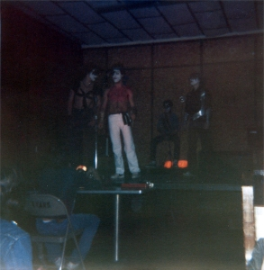 On stage at the Highland Youth Center (1982).