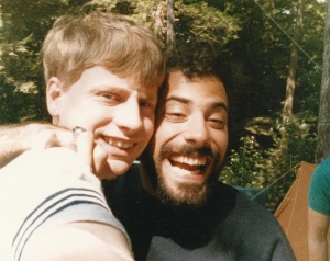 Dean and I during one of our memorable camping trips (circa 1987).
