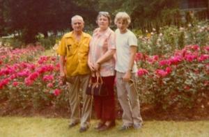 Howard, Judith, and son John in 1980. Photo by John's sister Karen.