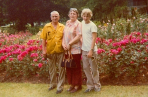 Howard, Judith, and son John in 1980. Photo by John's sister Karen.